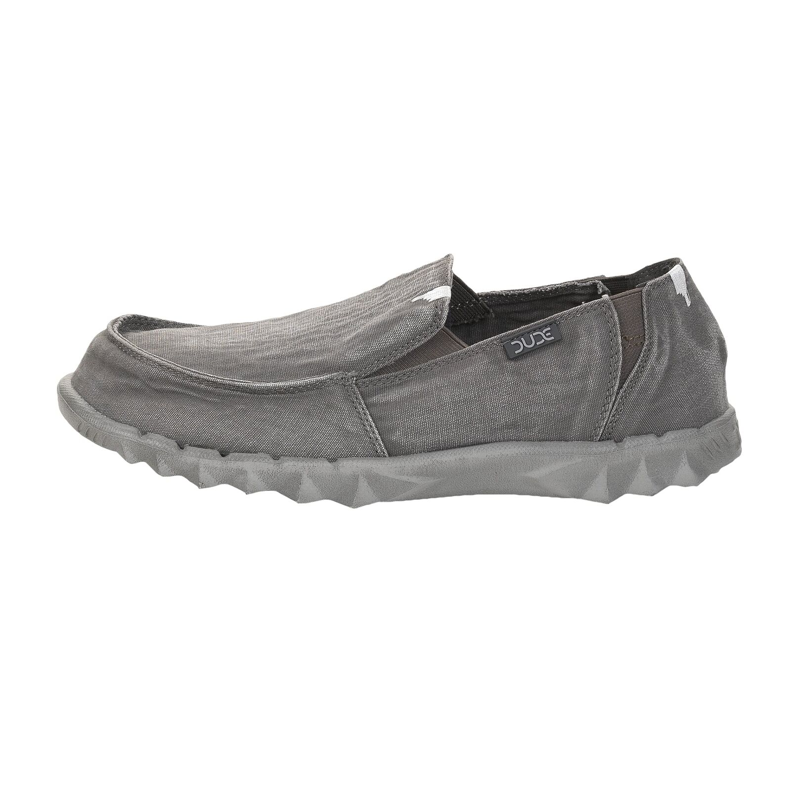 Men's Hey Dude shoes Farty Washed Dark Grey Slip On   Mule