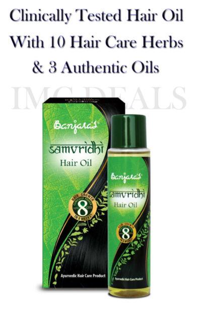 Banjaras Samvridhi Hair Oil Ayurvedic Herbs & Natural Oils Long & Thick Hair