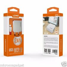 LDNIO USB AUTO-ID  CHARGER FOR ANDROID  WITH CABLE  6 MONTHS  MFG WARRANTY