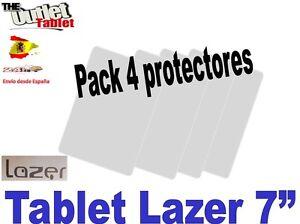 Pack-4-Protectores-pantalla-para-Tablet-LAZER-de-7-034-7-pulgadas-Universal