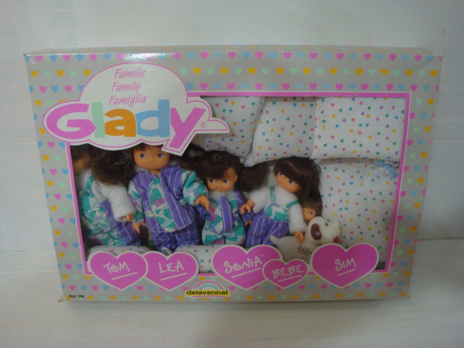 Coffret poupée Famille Glady ref 290 - DELAVENNAT - Family Famiglia - Etat neuf
