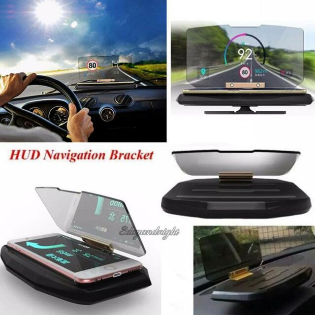 Universal Car GPS Mobile Navigation Bracket HUD Head Up Display for Smart Phone