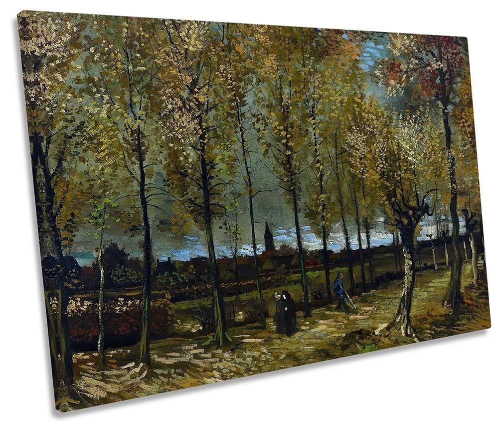 Vincent Van Gogh PIOPPI NEAR Nuenen tela singola Wall Art Print
