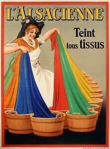 Original-Vintage-Poster-DORFI-Alsacienne-Teinture-Lessive-1938