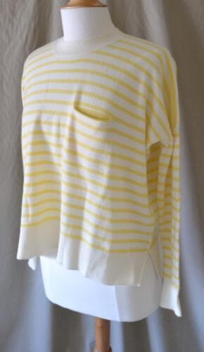 Stripet Hvid Xs Fremragende Tilstand Demylee Cashmere Gul Størrelse Sweater PRExEw