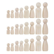 Satz Familie Holzfigure Kegel Figurenkegel Spielfiguren zum Bemalen 36 Teile