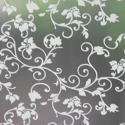 Privacy Window Film, Frosted Flower Design, Self Adhesive, Window Cover, Floral Gemakkelijk Te Smeren