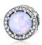 DIY Silver European CZ Charm Opal Crystal Spacer Beads Fit Necklace Bracelet