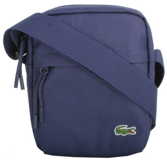1fa0d158041 Lacoste Vertical Camera Bag - Peacoat Navy for sale online | eBay