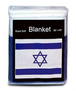 Israel-Flag-Fleece-Blanket-50x60-034-NEW-Star-of-David-Travel-Throw-Cover