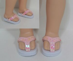 """Debs LAVENDER Patent Heart Doll Shoes For 14/"""" AG Wellie Wisher Wishers"""