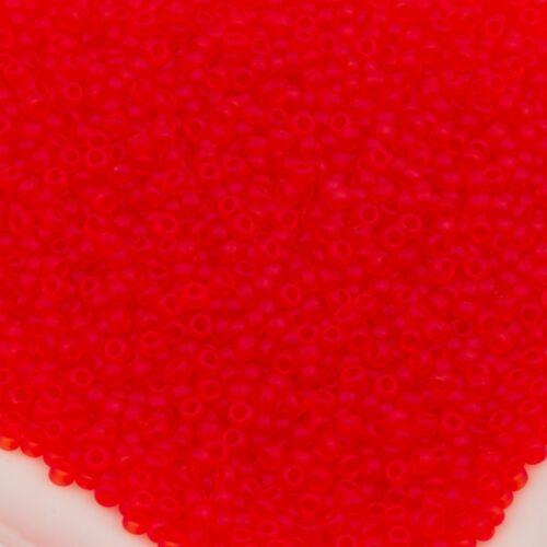 Toho Seed Beads 15//0  Ruby Transparent Matte 10g #5BF 10647113