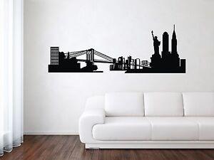 new york city skyline wall decal nyc silhouette vinyl home art decor