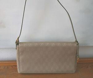 217a73d236f679 Das Bild wird geladen Goldpfeil-Tasche-schoene-neuwertige-Handtasche-Leder -Stoff-oliv-