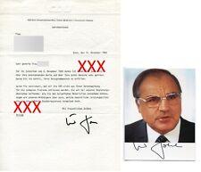 HELMUT KOHL - orig. Autogramm mit handsigniertem Brief (Bezug zu SPD), 1984