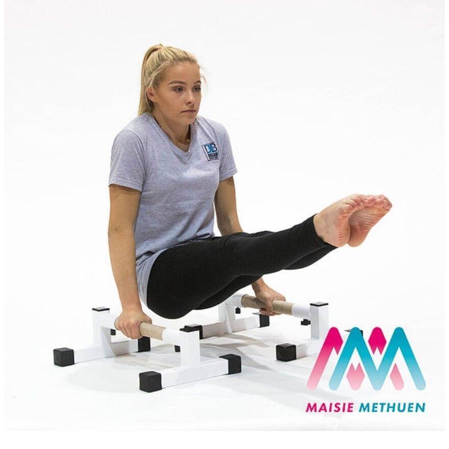 Parallettes gymnastics equipment gymnastics bars Strength conditioning.NEW