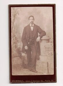 Vintage-CDV-Dapper-Midwest-Gent-with-Cane-Photo-by-Randall-Peoria-Illinois