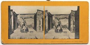 Pompei-Casa-Del-Poeta-Tragica-Italia-Foto-Stereo-P48p2n-Vintage-Analogica