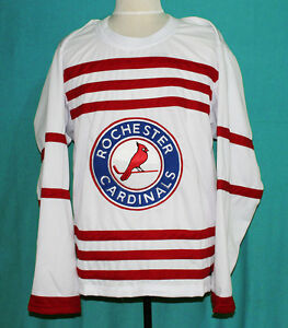 info for 50ece 2a86e Details about ROCHESTER CARDINALS RETRO HOCKEY JERSEY (1935) PAT CALLIGHEN  ANY SIZE