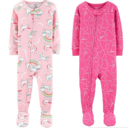 NEW NWT set of 2 Carter/'s cotton footies size 12 months