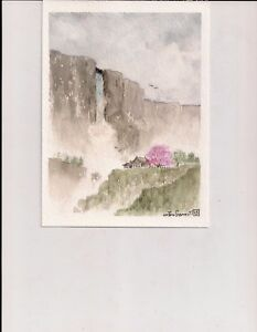 Asian watercolor art was specially