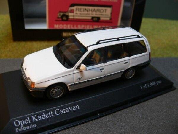 1 43  Minichamps Opel Kadett voitureavan 1989 polarweiss  magasin en ligne