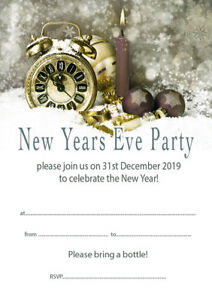 Write your own 20 x New Years Eve Party Invitations 2018A5 with envs