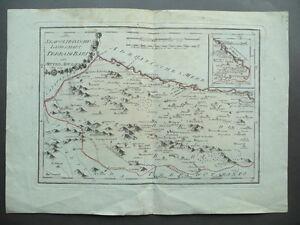 Bari Cartina Geografica.Carta Geografica Terra Bari Neapolitanische Landschaft Tedesco Italiano 1700 Ebay