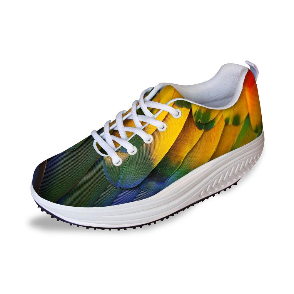 Women Ladies Fashion Shape Ups Wedge Platform Sneaker Breathable Toning shoes