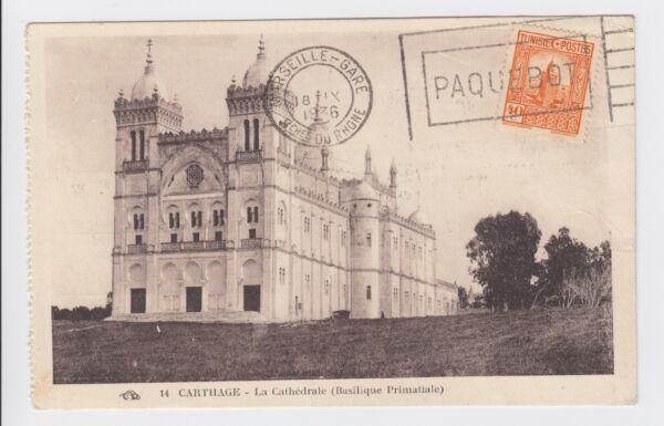 1936 Carthage Tunisie Pour La France Marseille Gare Paquebot Carte Postale-redirigé