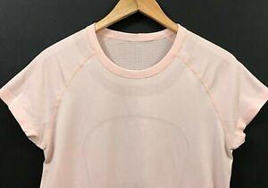 Lululemon-Women-039-s-Swiftly-Tech-Short-Sleeve-Crew-Light-Pink-Top-sz-10