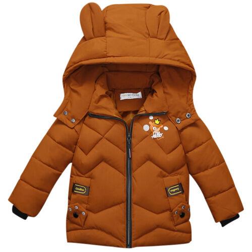 Jungen Kinder Dicker Mantel Warme Winterjacke Kapuzenparka Hoodie Sweatjacke Neu