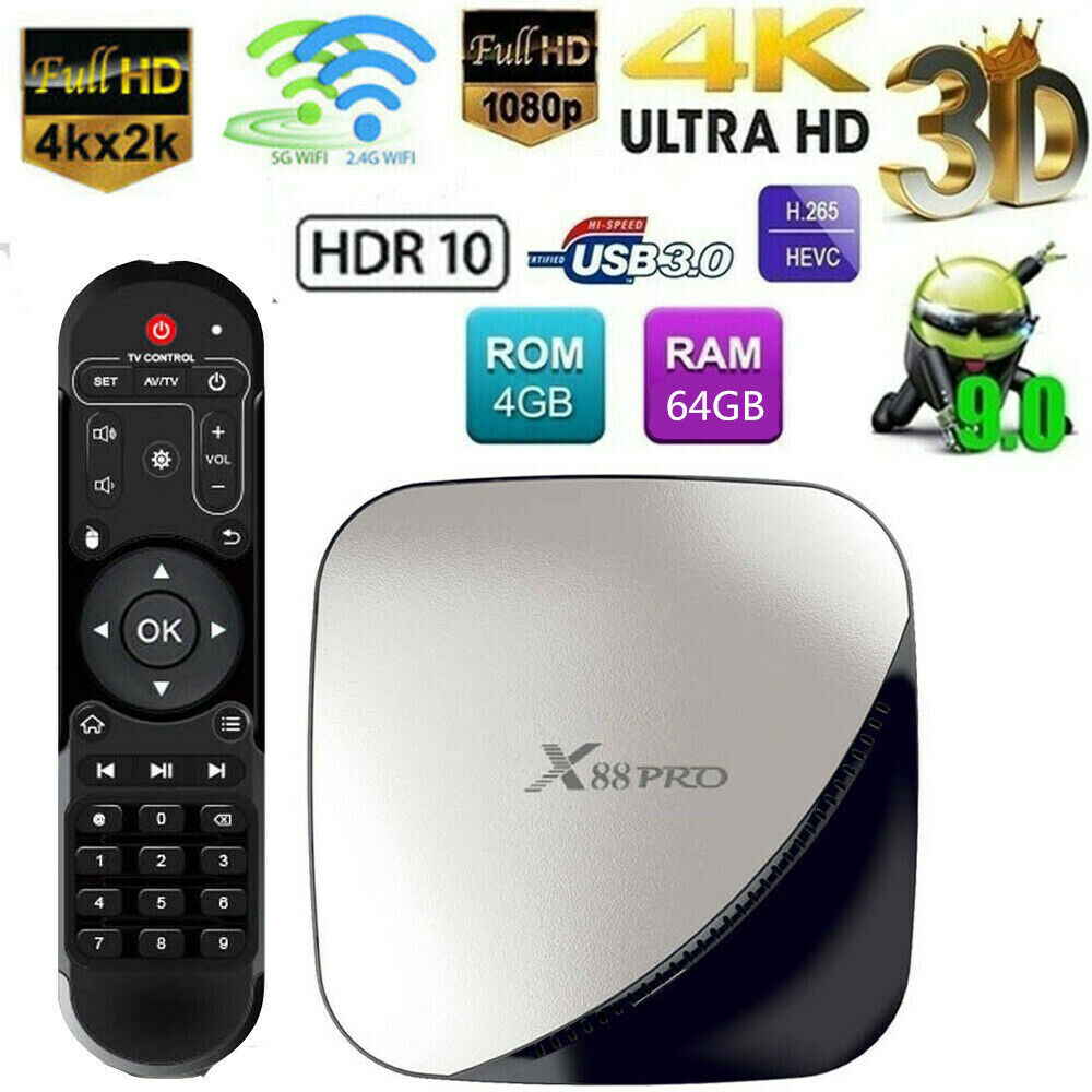 X88 Pro Android 9.0 4K HD Smart TV BOX 4GB 64GB RK3318 Quad-Core 3D WIFI USB 3.0 Featured