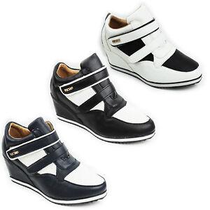 nascosti donna cinturino con con talloni 8 nuove bianco alla dimensioni 3 donna Scarpe ginnastica nero da da da e caviglia Scarpe talloni nXx8Z7pqXw