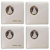 3 Pioneer Wf-5781 Oval Frame Wedding Albums 5x7&8x10 Fotos Silver No Text Wf5781