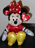 Ty Disney Minnie Mouse Sparkle Beanie Baby With Sound - Mint With Mint Tag