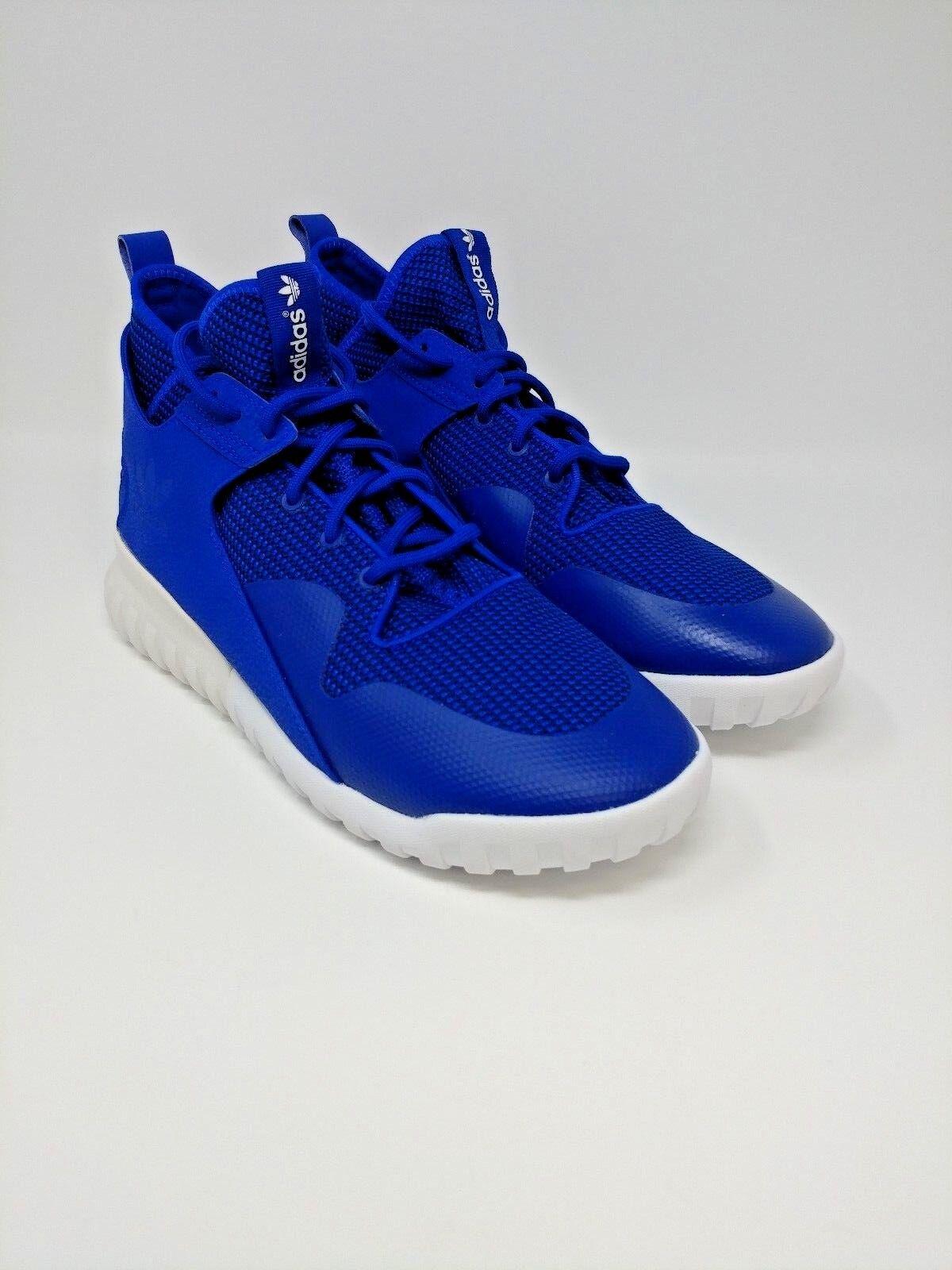 Adidas Tubular X SIZE 10 Royal bluee Flat White