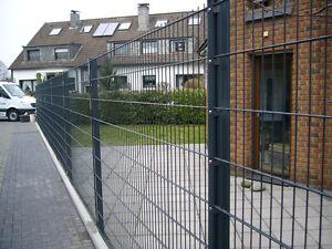 Zaun Gunstig Komplett 30 Meter Anthrazit Hohe 163 Cm