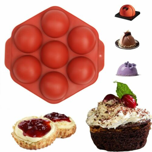 7 Cups Silicone Mold Hot Chocolate Bomb Cake Baking Mould Jelly Dome Mousse Tray