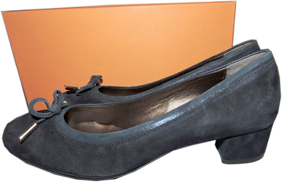 Agl Atilio Giusti Leombruni Women's Kristin Low Heel Navy bluee Pump shoes 39.5 -9