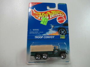 Mattel Hot Wheels 1996 1:64 Scale Green Troop Convoy Truck Die Cast Car Collector #487
