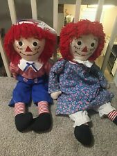 Original Authentic Raggedy Ann and Andy dolls SET OF 2