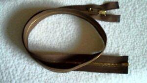 30 inch Dark Brown /& Aluminum Metal #5 Separating YKK Zipper New!