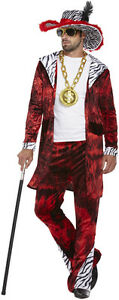 Nouveau-Hommes-70-S-gangster-adulte-Big-Daddy-avec-Dollar-Medaillon-Fancy-Dress-Costume