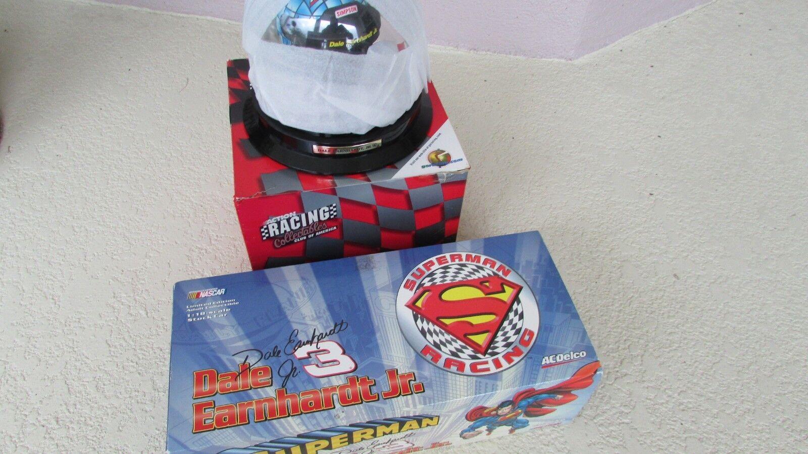 1 18 Dale Earnhardt Jr AC Delco Superman race car 1999 Monte Carlo Spl helmet