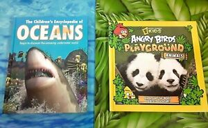 2-Children-039-s-Animal-Books-Angry-Birds-Playground-Animals-amp-Oceans-Pre-owned
