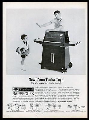 Cooperative 1966 Tonka Firebowl Grill Barbecue Et Jouet Camion Photo Vintage Imprimé Lustrous Collectibles