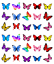 Mixed Colours Butterflies x 30 Cupcake Toppers Edible Wafer Paper Fairy Cake