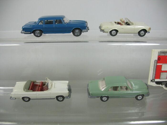 Aa985-0, 5 x Wiking H0   1 87 Models MB 230 SL Cabriolet 14 B+ 300SE+450SE+600