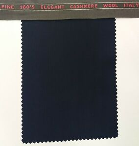 Navy Blue Jacket Blazer pants Suit Fabric 180s Cashmere Wool italy Suiting